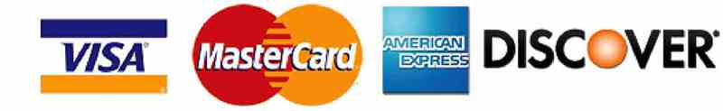 Allscape Accepts all Major Credit Cards.